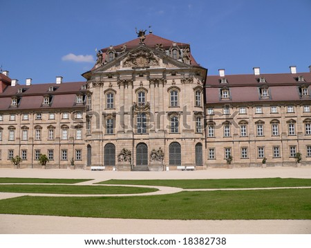Weissenstein Palace in Pommersfelden (Bavaria, Germany) - stock photo