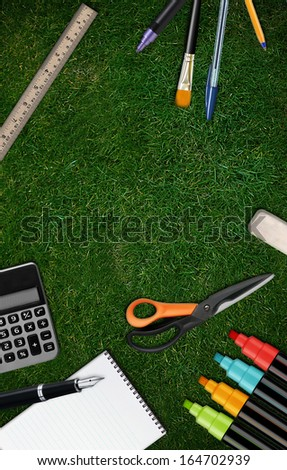Welcome Back to school background with copy space to add your text - stock photo
