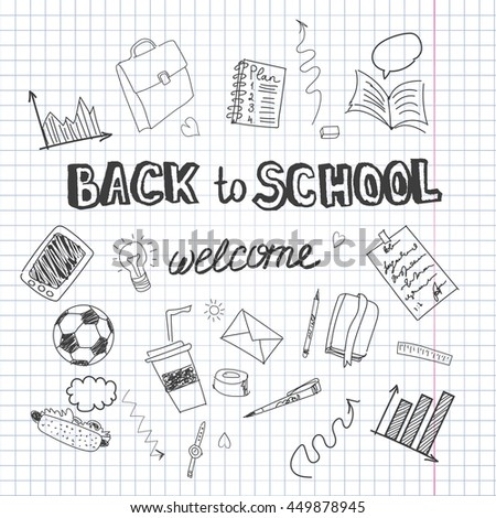 Welcome back to school illustration.