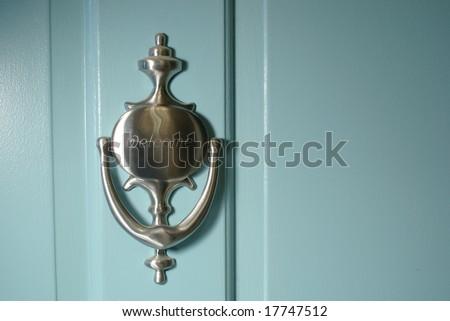 Welcome Door Knocker - stock photo
