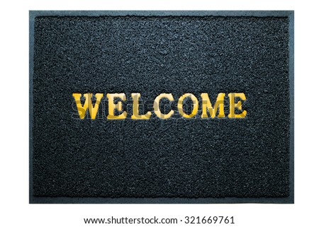 welcome doormat blue color