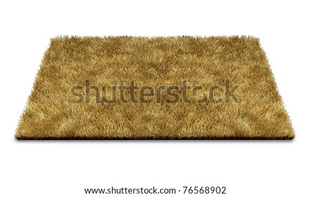Welcome doormat carpet isolated on white representing the concept of greeting new ideas and people to a home or at the doorstep of a business. - stock photo
