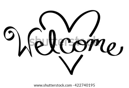 Welcome Heart - stock photo