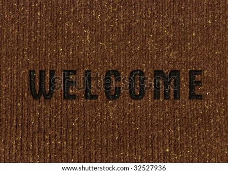 Welcome Home door mat - stock photo