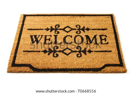 Welcome mat - stock photo