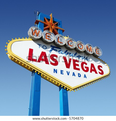 Welcome sign for Las Vegas, Nevada. - stock photo