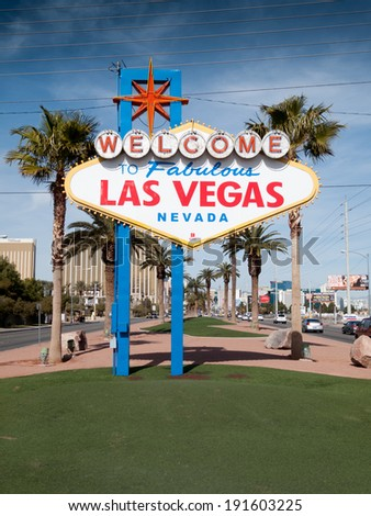 Welcome sign, Las Vegas, Nevada, USA - stock photo
