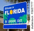 Welcome Sign to Florida - stock photo