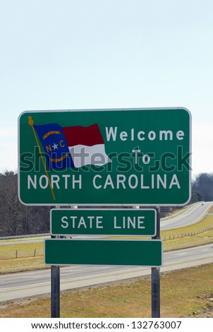Welcome sign to North Carolina