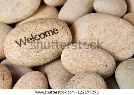 Welcome stone - stock photo