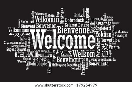Welcome Tag Cloud illustration - stock photo