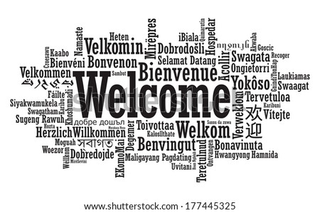 Welcome Tag Cloud illustration in raster format - stock photo