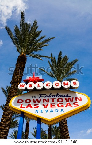 Welcome to Downtown Las Vegas sign - stock photo