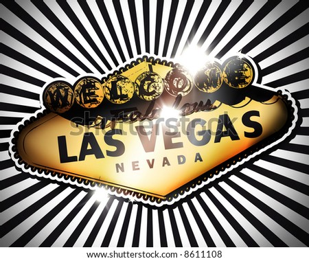 Welcome to Fabulous Las Vegas Gold - stock photo