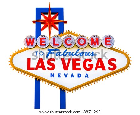 Welcome to Fabulous Las Vegas isolated sign - stock photo
