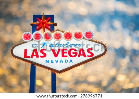 Welcome to Fabulous Las Vegas Neon Light Sign - stock photo