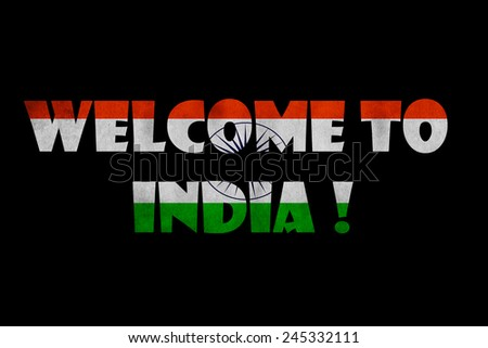 Welcome India Text On Black Stock Illustration 245332111 Shutterstock