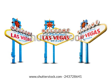Welcome to Las Vegas Neon Light Sign - stock photo