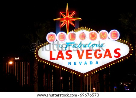 Welcome to Las Vegas, Nevada (USA) - stock photo