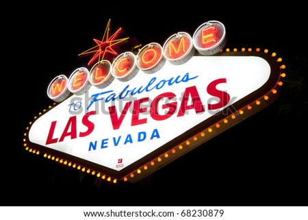Welcome to Las Vegas Sign - stock photo
