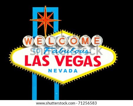 Welcome to Las Vegas Sign. - stock photo
