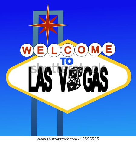 welcome to Las Vegas sign with dice JPG - stock photo
