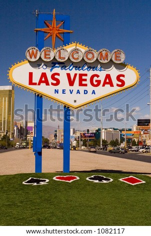 Welcome to Las Vegas with NEW GRASS !!!!!!!! Just added 2/06 - stock photo