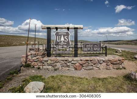 Welcome to Montana. - stock photo