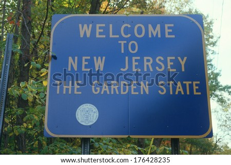 Welcome to New Jersey Sign - stock photo