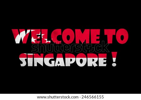 welcome to Singapore text on black