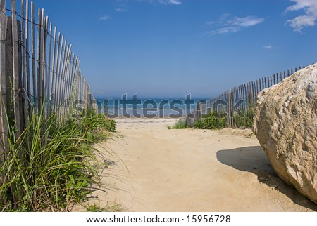 Welcome To The Beach! - stock photo