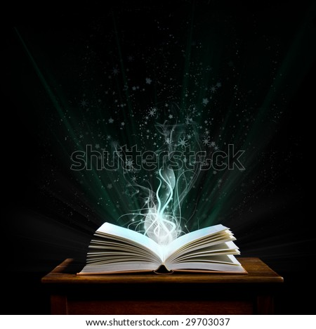 Welcome to the magical world of reading! - stock photo