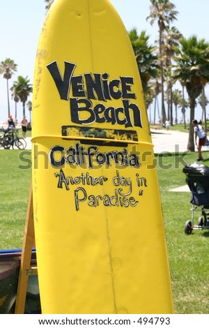 Welcome to Venice Beach - stock photo