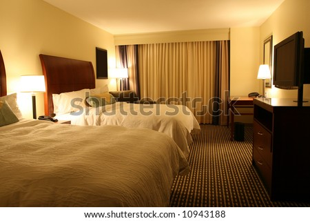 Welcoming Hotel Room - stock photo
