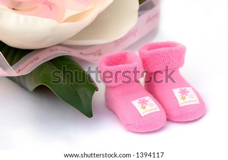 Welcoming new arrival - stock photo