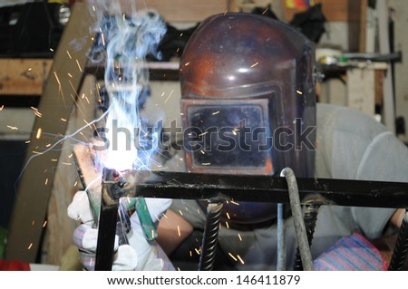 Welder. - stock photo