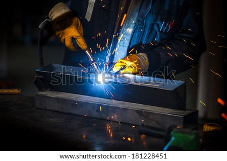 welder background - stock photo