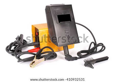 Welding device white background with soft shadow - stock photo