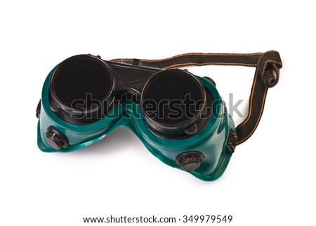 Welding Goggles isolated on white