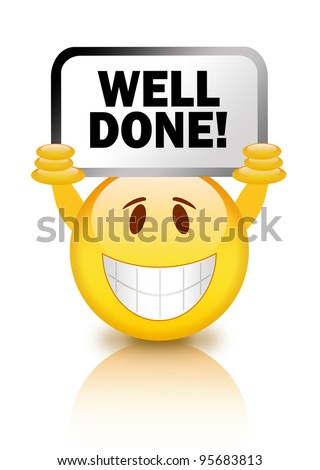 Well done illustration - stock photo