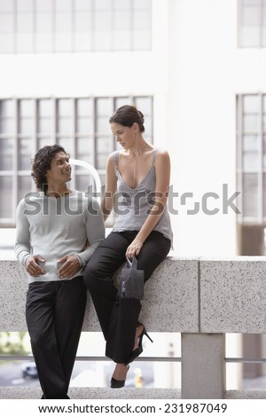 Well-Dressed Attractive Couple - stock photo