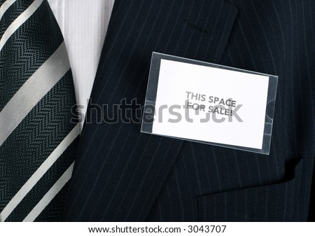 Well dressed businessman looking for sponsors - stock photo