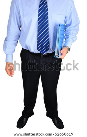 Well-dressed businessman with folder - stock photo