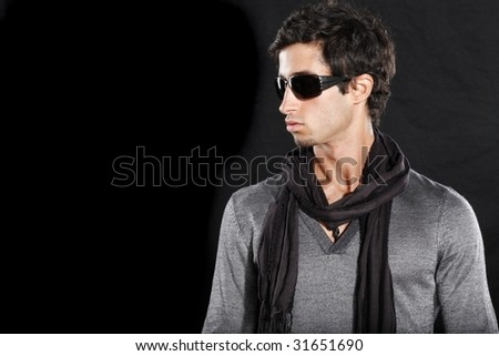 Well Dressed Young Man Wearing Sun Glasses - stock photo