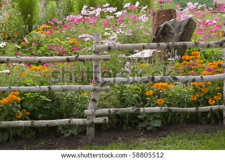 Well-groomed spring garden - stock photo