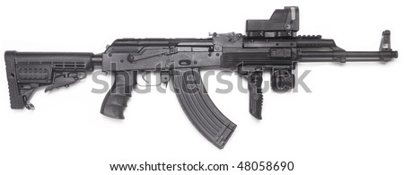 Well known AK-47 kalashnikov assault rifle. - stock photo