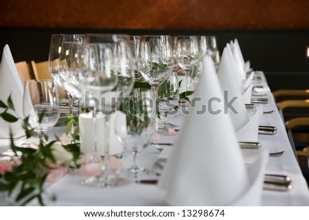 Well-laid table - stock photo