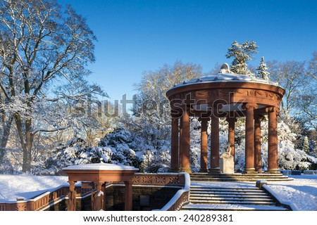 Well of the Goddess Hygeia , Bad Homburg, Hesse, Germany - stock photo