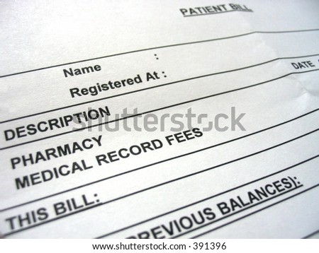 Well, pay the bill! - stock photo