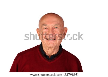 Well preserved senior citizen at the age of 85 - stock photo